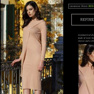 Asymmetrical and Refined Dress made of Organic Wool