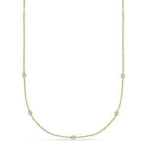 Diamond Station Necklace (1/8 Carat Weight)