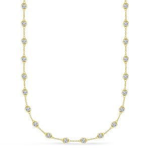 Diamond Station Necklace (3.00 Carat Weight)