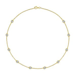 Diamond Station Necklace (1.00 Carat Weight)
