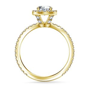 Oval Cut Diamond Halo Engagement Ring In 14K Yellow or White Gold (1.00 Carat Weight)