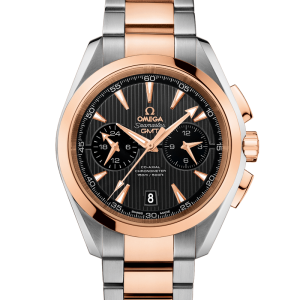 Luxury AQUA TERRA OMEGA CO‑AXIAL GMT CHRONOGRAPH