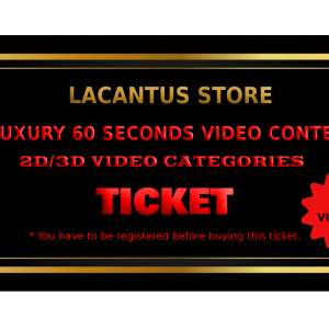 LUXURY 60 SECONDS VIDEO CONTEST – 2D-3D VIDEO CATEGORY – 3 VIDEOS