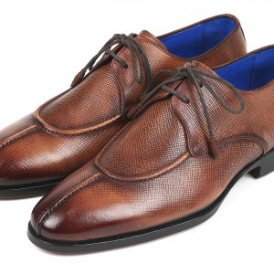 Paul Parkman Split Toe Men's Brown Derby Shoes (ID#8871BRW)