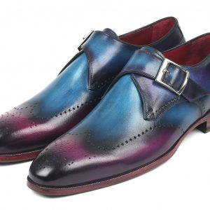 Paul Parkman Single Monkstraps Blue & Purple (ID#948-BLU-PRP)
